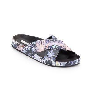 Wafa Floral-Print Slide Sandals